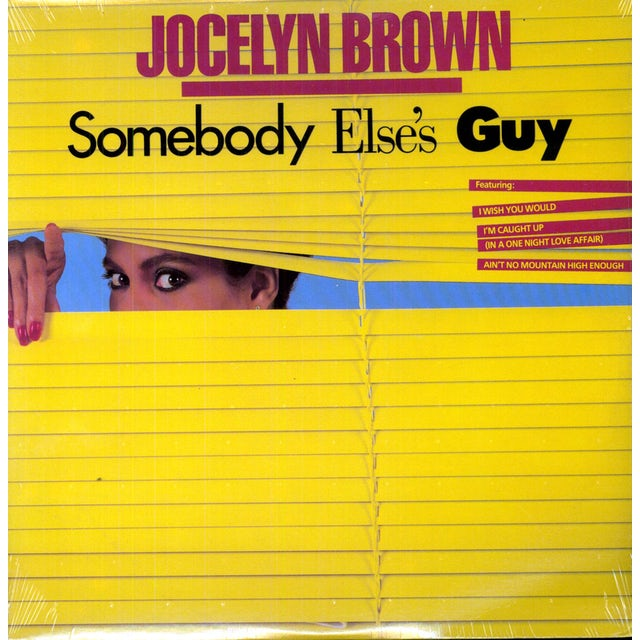 Jocelyn Brown SOMEBODY ELSE'S GUY Vinyl Record - Canada Release
