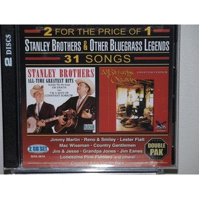 Stanley Brothers BLUEGRASS ORIGINALS: ALL TIME GREATEST CD