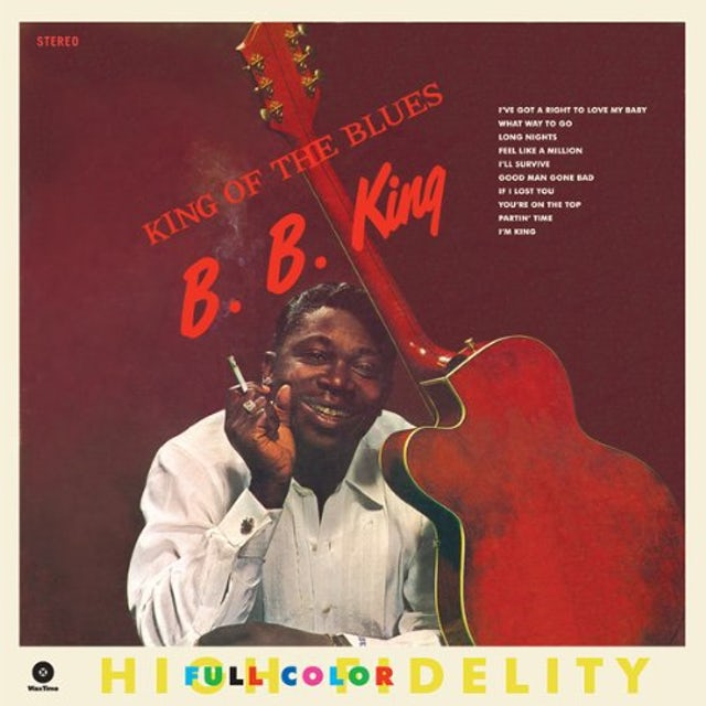 B.B. King KING OF THE BLUES Vinyl Record - Spain Release