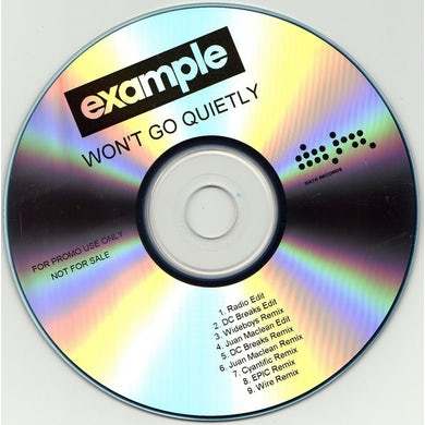 Example WON'T GO QUIETLY Vinyl Record - UK Release