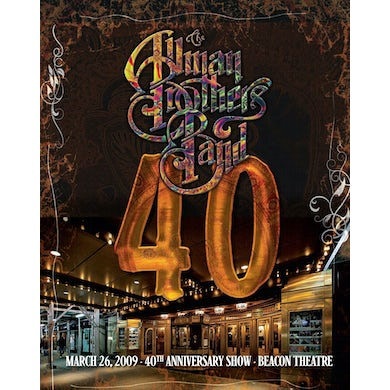 The Allman Brothers Band  40: 40TH ANNIVERSARY SHOW LIVE AT BEACON THEATRE DVD
