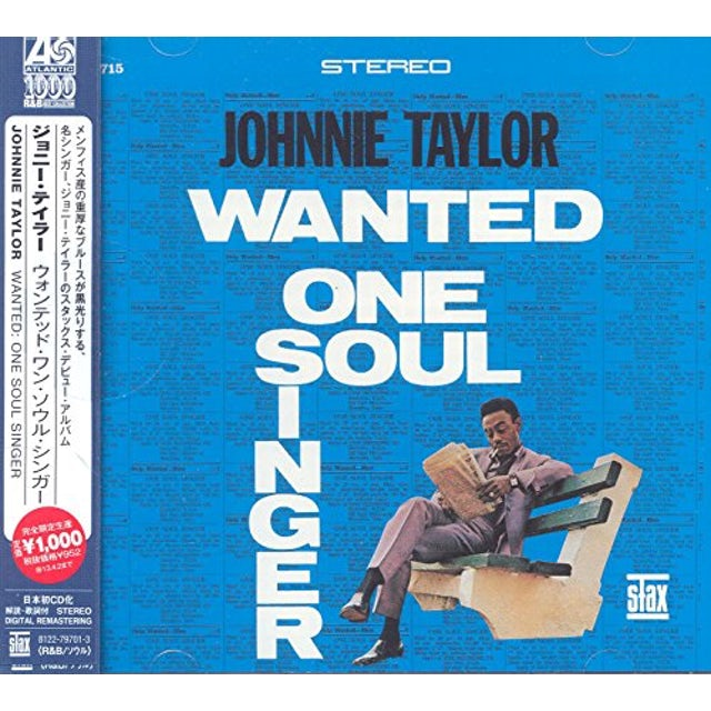 Johnnie Taylor WANTED ONE SOUL SINGER CD