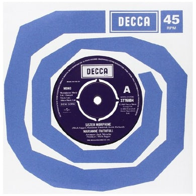 Marianne Faithfull SISTER MORPHINE/SOMETHING BETTER Vinyl Record - Italy Release