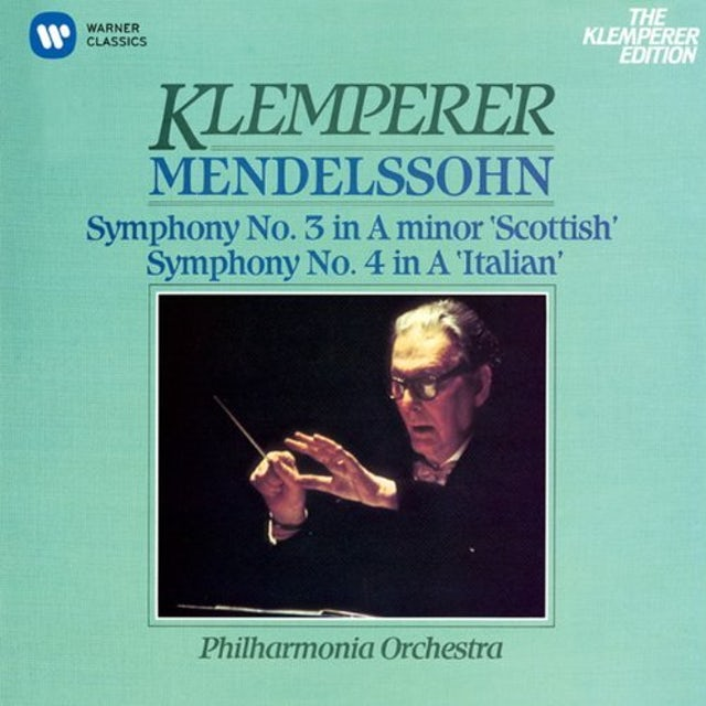 Otto Klemperer MENDELSSOHN: SYM. NO.3 'SCOTTISH' & NO.4 'ITALIAN' CD