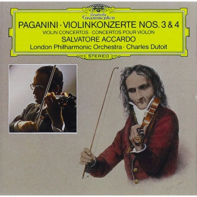 Salvatore Accardo PAGANINI: VIOLIN CONCERTOS NOS.3 & 4 CD