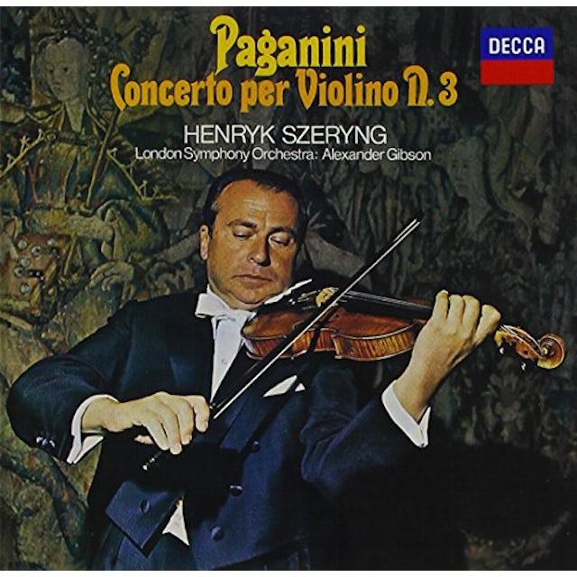 Henryk Szeryng PAGANINI: VIOLIN CONCERTO NO.3 CD