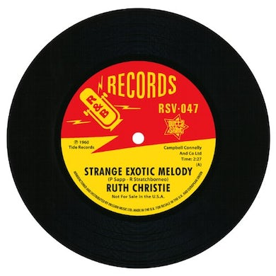 Ruth Christie STRANGE EXOTIC MELODY/THIS MUST BE LOVE Vinyl Record