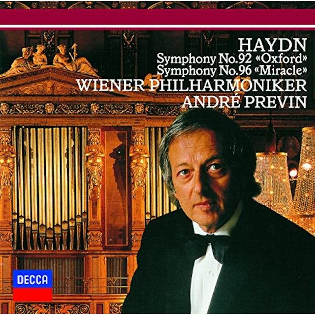 Andre Previn HAYDN: SYMPHONIES NOS.92 & NOS.96 CD