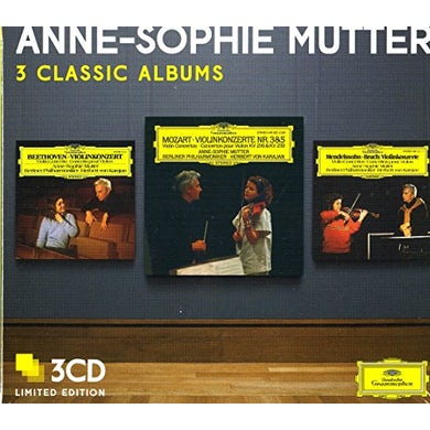 Anne-Sophie Mutter THREE CLASSIC ALBUMS CD