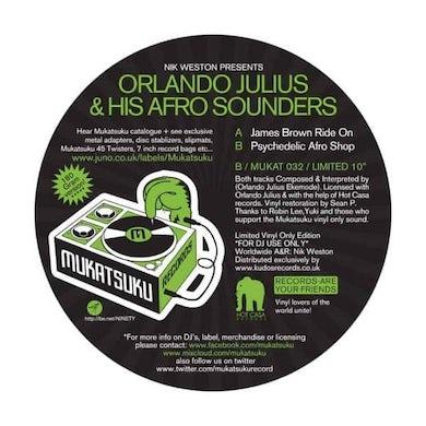 Orlando Julius JAMES BROWN RIDE ON/PSYCHEDELIC AFRO SHOP Vinyl Record - UK Release