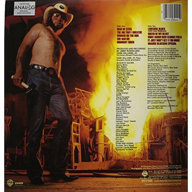 Hank Williams, Jr. MAN OF STEEL Vinyl Record