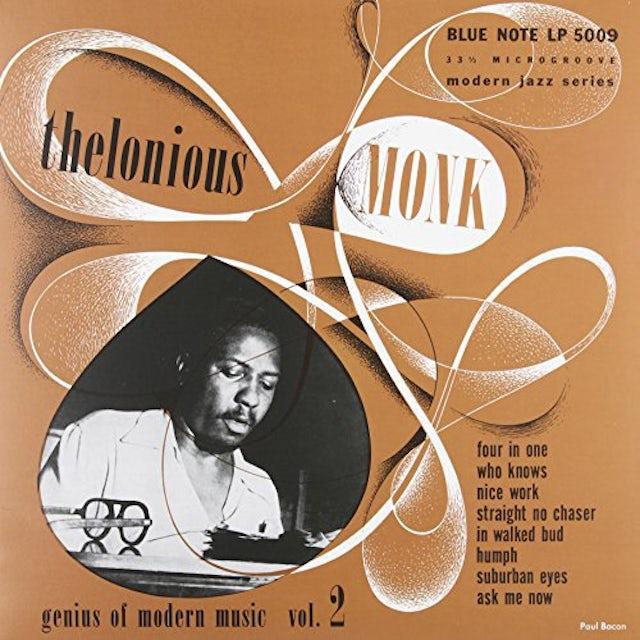 Thelonious Monk GENIUS OF MODERN MUSIC 2 Vinyl Record