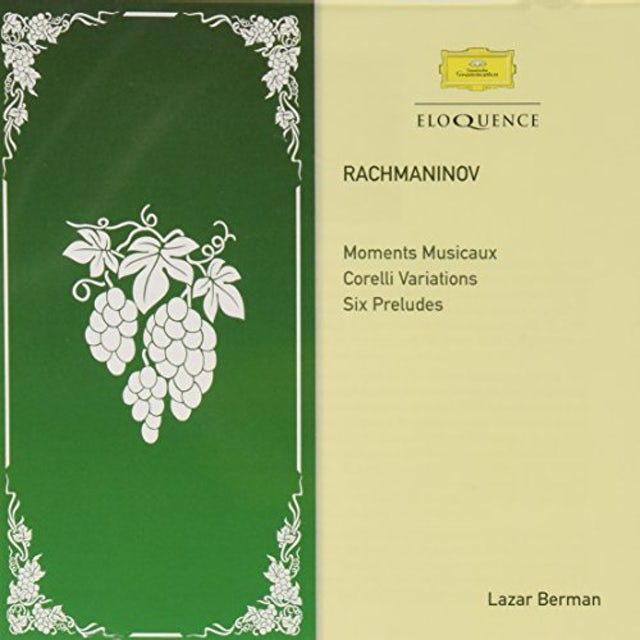 Lazar Berman RACHMANINOV: MOMENTS MUSICAUX CD