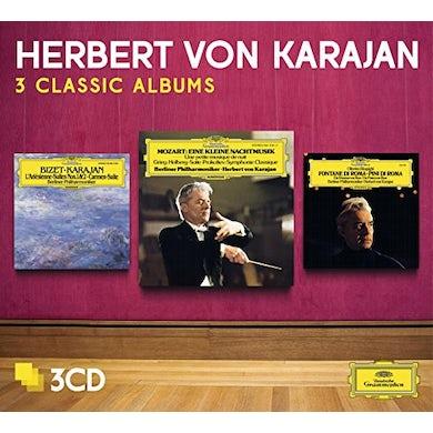 Herbert Von Karajan  THREE CLASSIC ALBUMS (MOZART/BIZET/RESPIGHI/PROKOF CD