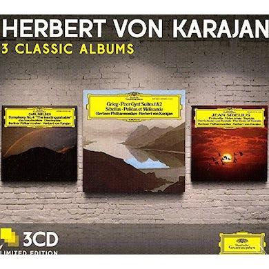 Herbert Von Karajan  THREE CLASSIC ALBUMS (SIBELIUS/GRIEG/NEILSEN) CD