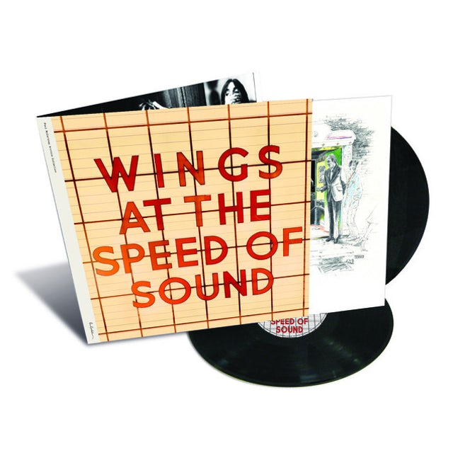 Paul McCartney & Wings AT THE SPEED OF SOUND Vinyl Record