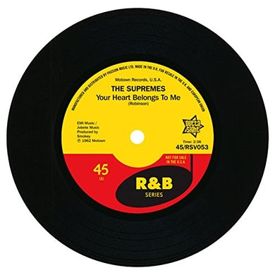 The Supremes YOUR HEART BELONGS TO ME Vinyl Record