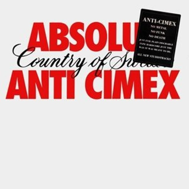 ANTI CIMEX ABSOLUT COUNTRY OF SWE (GER) Vinyl Record