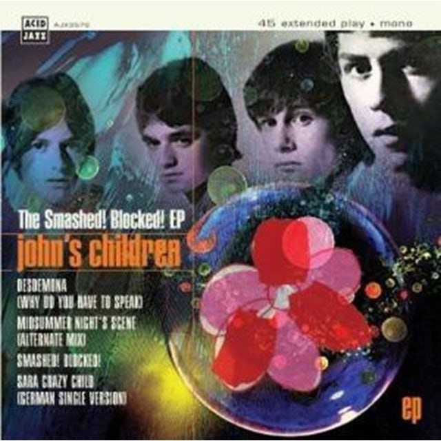 JOHN'S CHILDREN SMASHED BLOCKED Vinyl Record