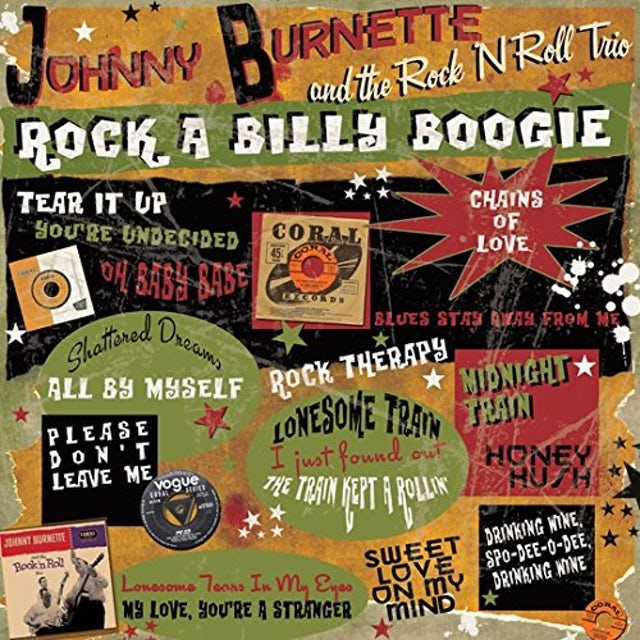 Johnny Burnette ROCK A BILLY BOOGIE Vinyl Record