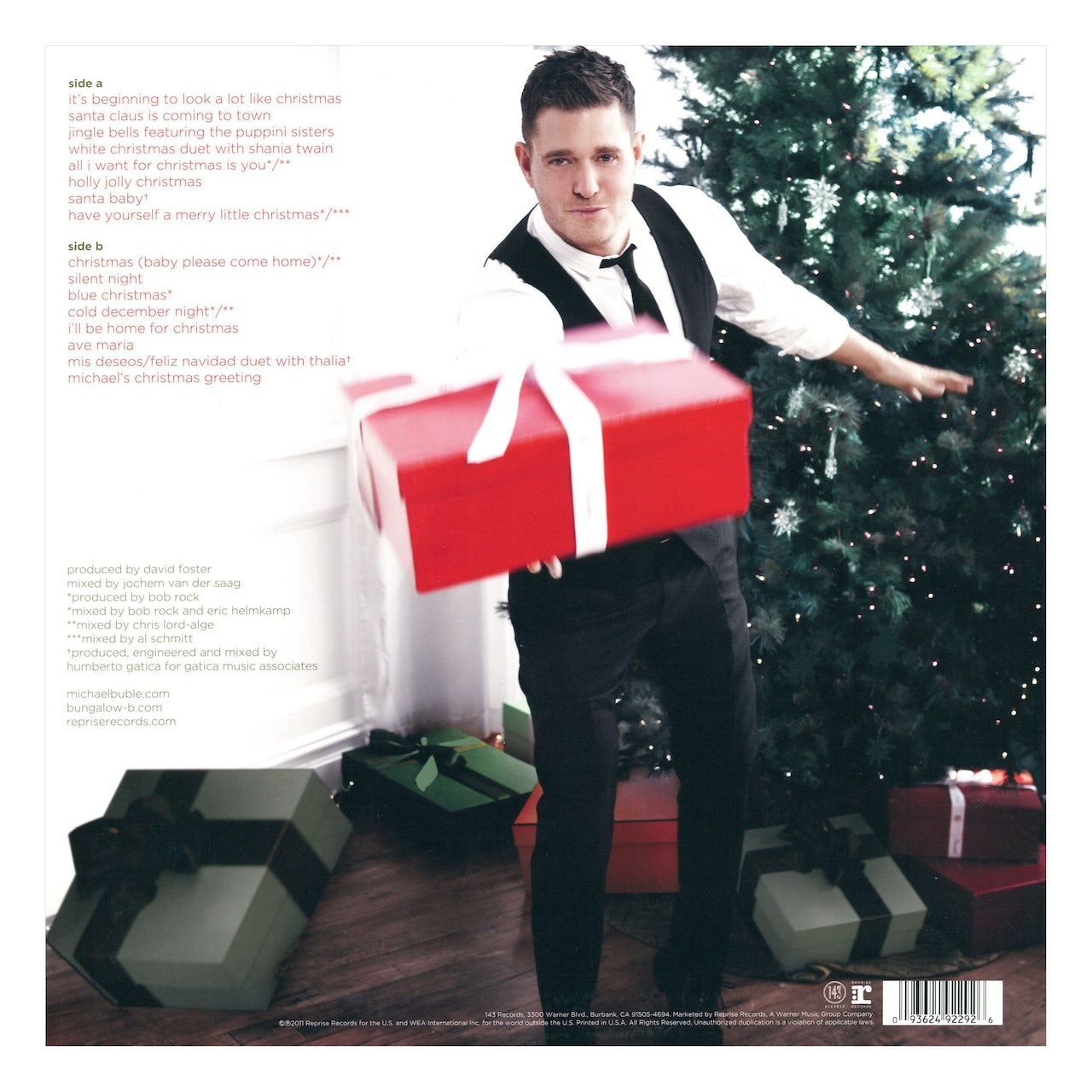 Michael Buble White Christmas.Michael Buble Christmas Red Colored Vinyl Lp Record