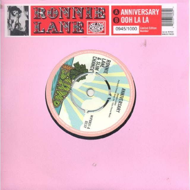 Ronnie Lane & Slim Chance OOH LA LA ANNIVERSARY Vinyl Record - UK Release