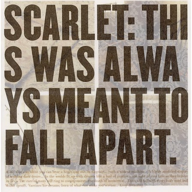 Scarlet THIS WAS ALWAYS MEANT TO FALL APART CD