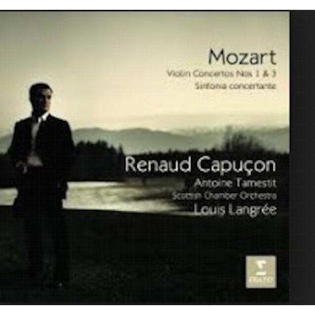 Renaud Capucon MOZART: VIOLIN CONCERTOS 1 & 3 SINF CD