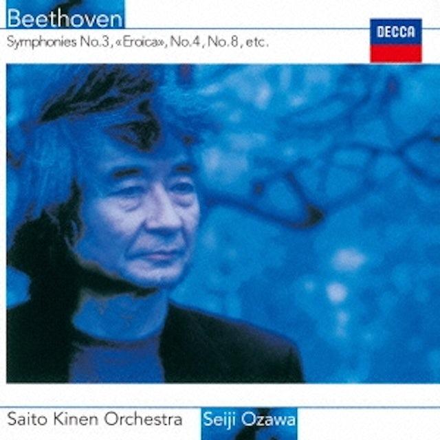 Seiji Ozawa BEETHOVEN: SYMPHONIES NO. 3 NO. 4 CD