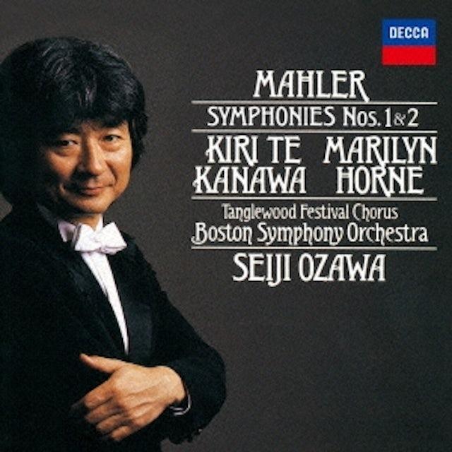 Seiji Ozawa MAHLER: SYMPHONIES NO. 1 NO. 2 CD