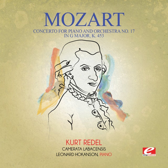 Mozart CONCERTO FOR PIANO & ORCHESTRA NO. 17 IN G MAJOR K CD