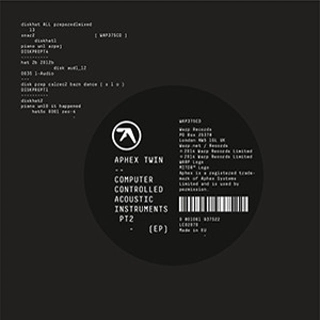 Aphex Twin COMPUTER CONTROLLED ACOUSTIC INSTRUMENTS PT 2 Vinyl Record