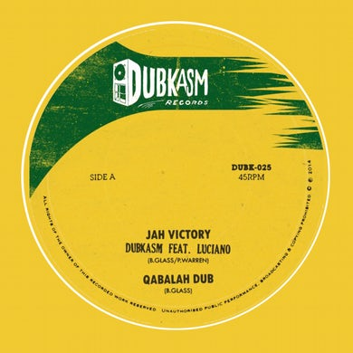 Dubkasm JAH VICTORY / RIGHT THERE Vinyl Record