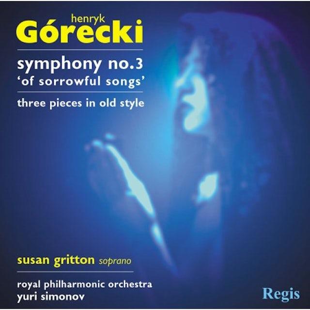 Royal Philharmonic Orchestra GORECKI: SYMPHONY NO. 3 CD