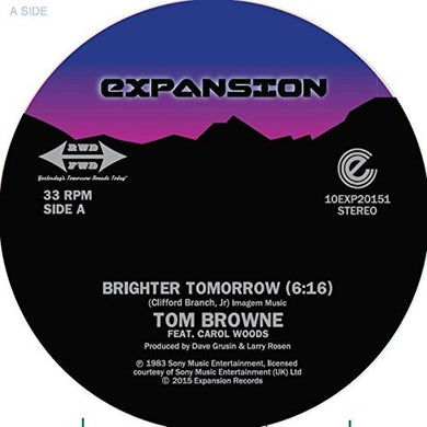 Tom Browne BRIGHTER TOMORROW Vinyl Record