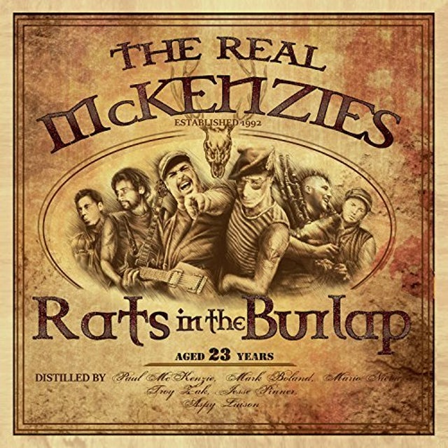 The Real McKenzies RATS IN THE BURLAP CD