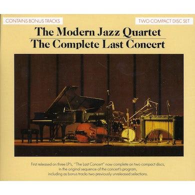 The Modern Jazz Quartet COMPLETE LAST CONCERT CD