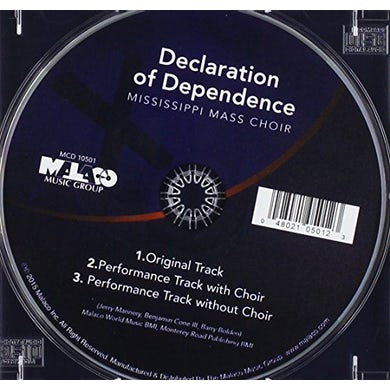 Mississippi Mass Choir DECLARATION OF DEPENDENCE CD