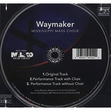 Mississippi Mass Choir WAYMAKER CD