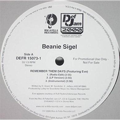 Beanie Sigel REMEMBER THEM DAYS Vinyl Record
