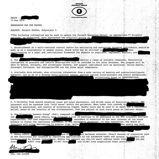 Desaparecidos PAYOLA Vinyl Record