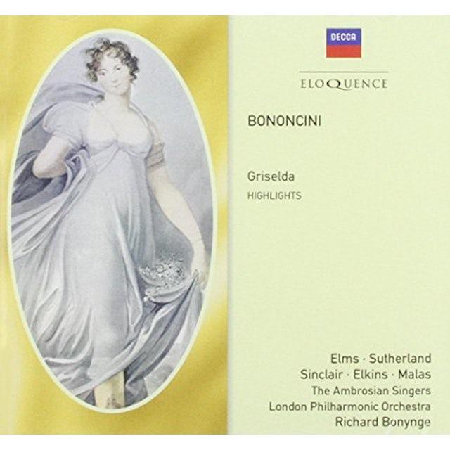 Richard Bonynge BONONCINI: GRISELDA CD