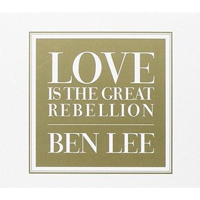 Ben Lee LOVE IS THE GREAT REBELLION CD