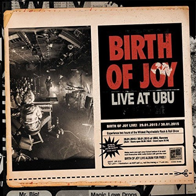 Birth Of Joy LIVE AT UBU CD