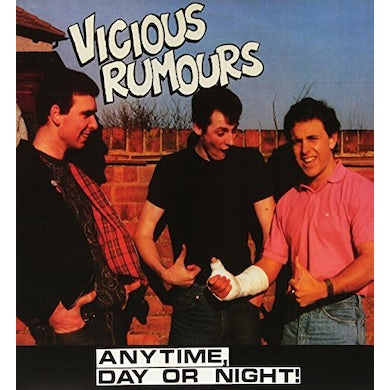 VICIOUS RUMOURS ANYTIME DAY OR NIGHT! Vinyl Record - Italy Release