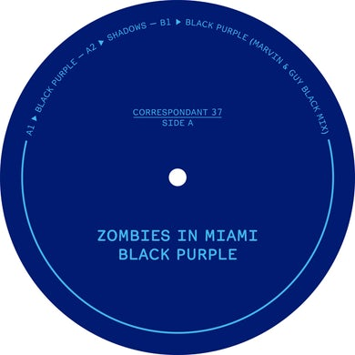Zombies In Miami BLACK PURPLE Vinyl Record