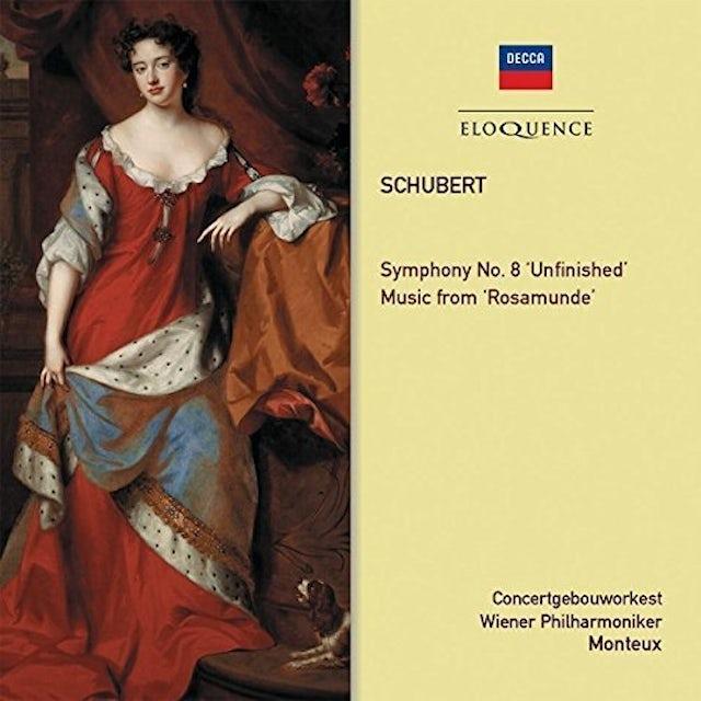 Pierre Monteux SCHUBERT: SYMPHONY 8 / ROSAMUNDE EXCERPTS CD