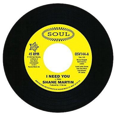 Shane Martin / Taj Mahal I NEED YOU / A LOT OF LOVE Vinyl Record