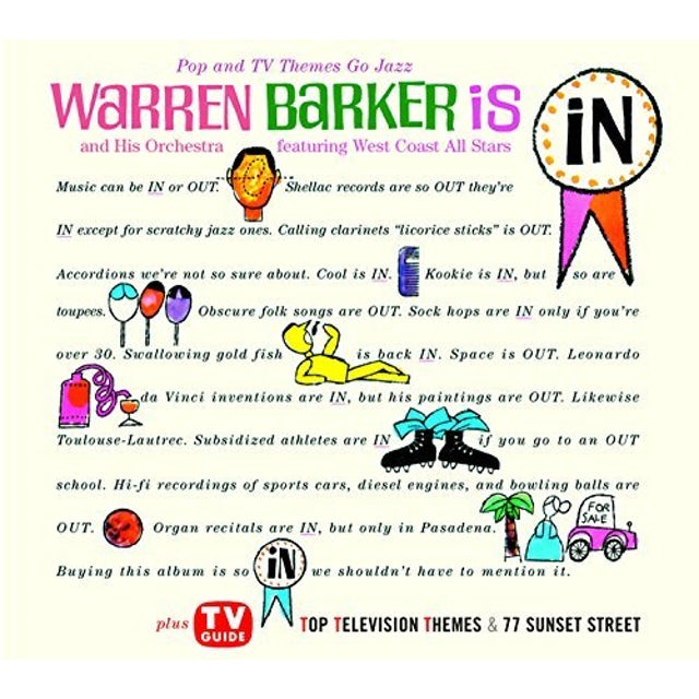 Warren Barker POP AND TV THEMES GO JAZZ CD