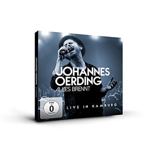Johannes Oerding ALLES BRENNT : LIVE IN HAMBURG CD